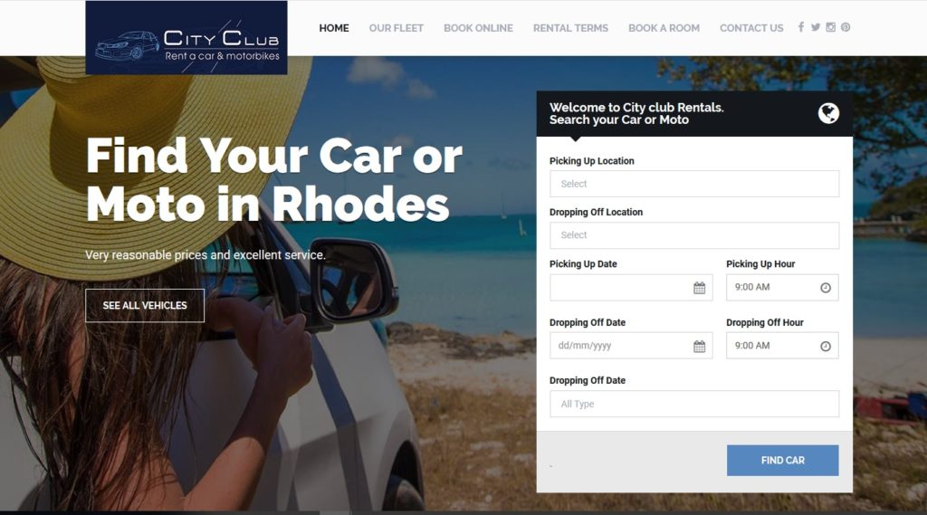 City club Rent a car in Rhodes island - faliraki rent a moto and car, faliraki rhodos car hire rentals scooter , motorbikes, quads and attv