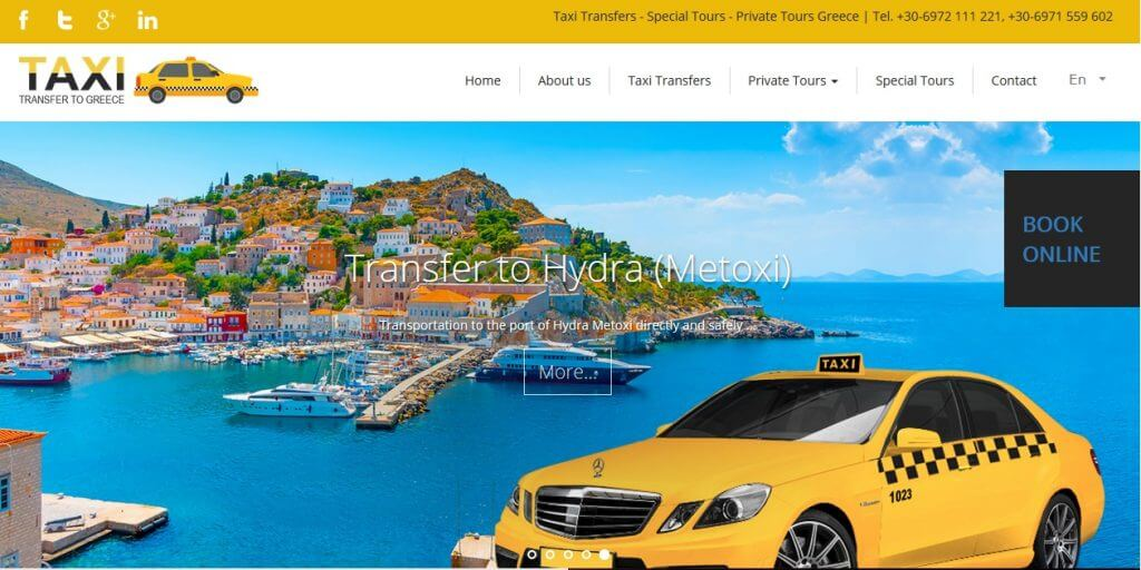 Book your private taxi transfer to Athens